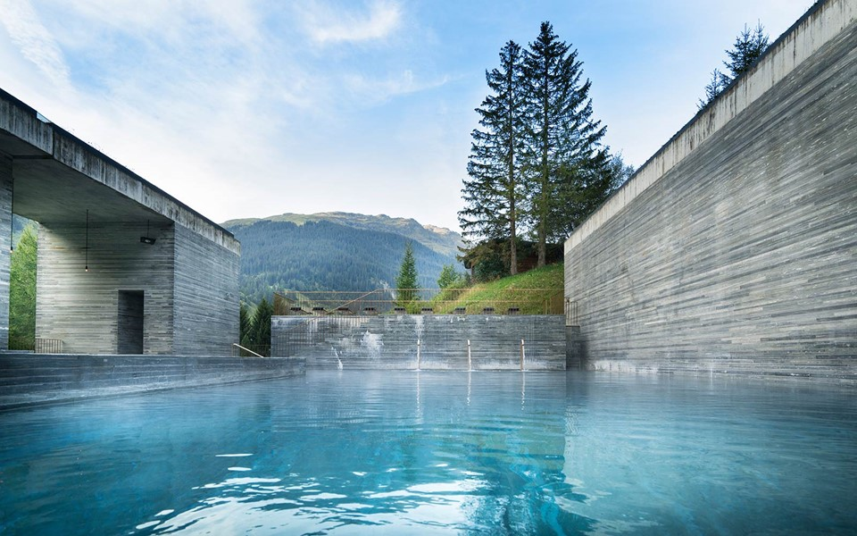 Bagni Termali Vals : Hotel vals the design spa hotel switzerland
